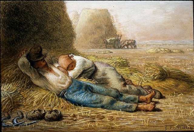 unknown artist jean francois millet noonday rest paintings