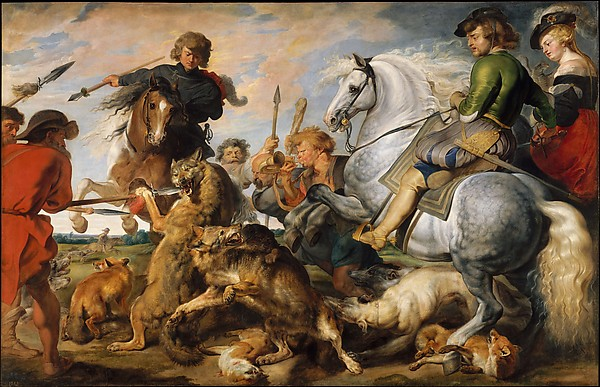 peter paul rubens wolf fox hunt painting