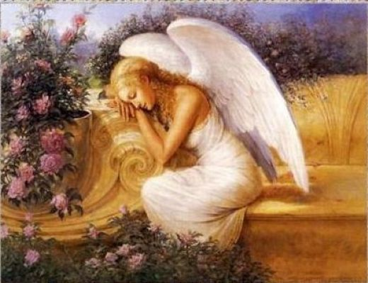 Angel at rest by tadiello painting unknown artist angel for Angel paintings for sale
