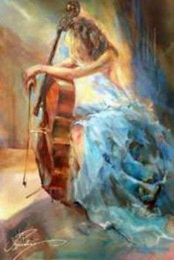 unknown artist anna blue note ii paintings