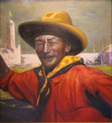 unknown artist cowboy painting