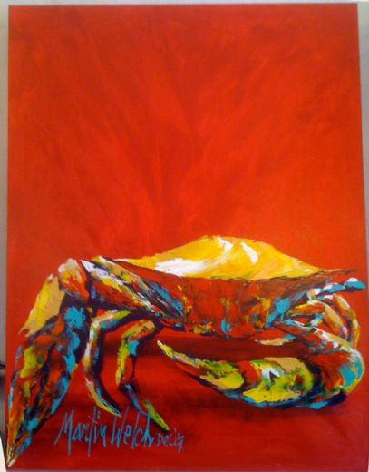 unknown artist crab 4 painting