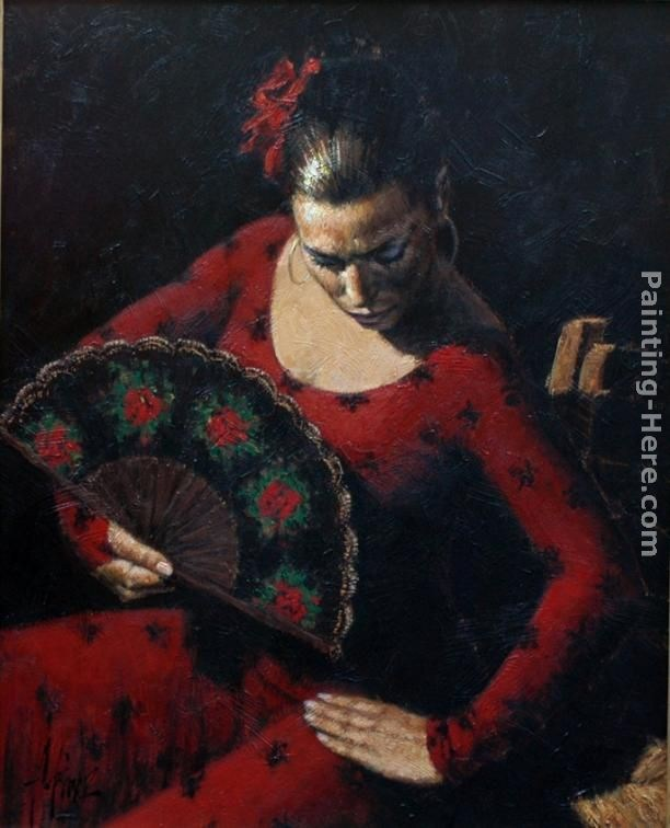 unknown artist fabian perez dancer painting