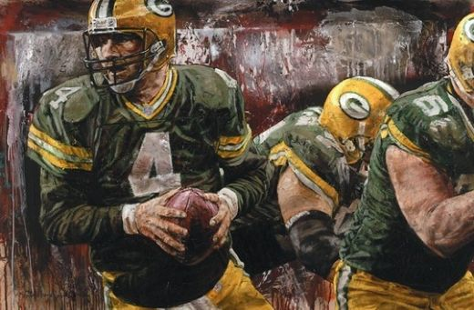 unknown artist football paintings