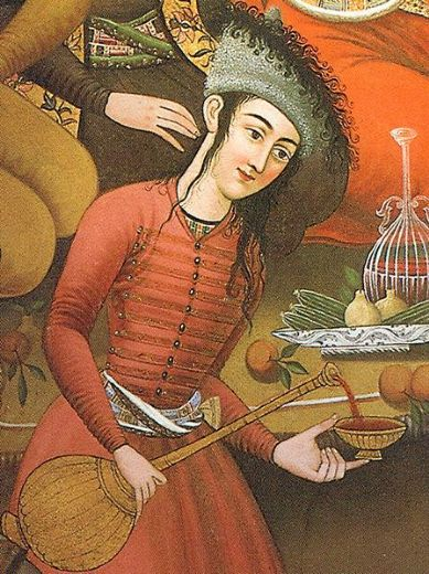unknown artist persian woman pouring wine paintings