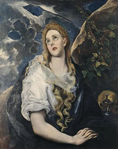 unknown artist saint mary magdalene by el greco painting