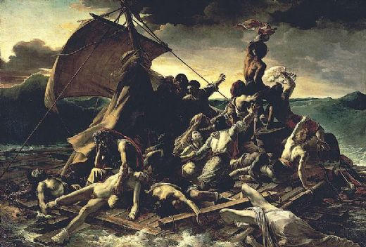 unknown artist the raft of the medusa by theodore gericault painting