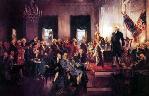 unknown artist the signing of the constitution painting