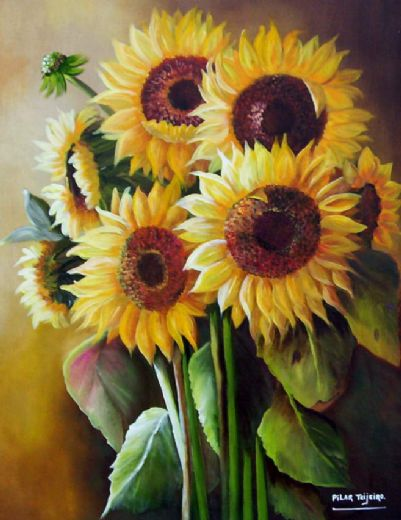 unknown artist the sunflowers oil painting