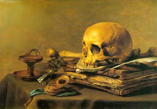 unknown artist vanitas still life painting