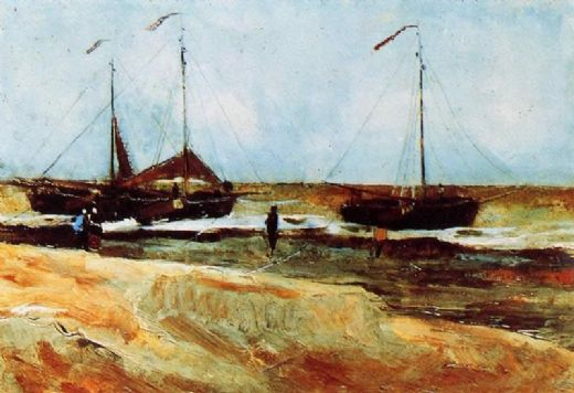 vincent van gogh beach at scheveningen in calm weather paintings