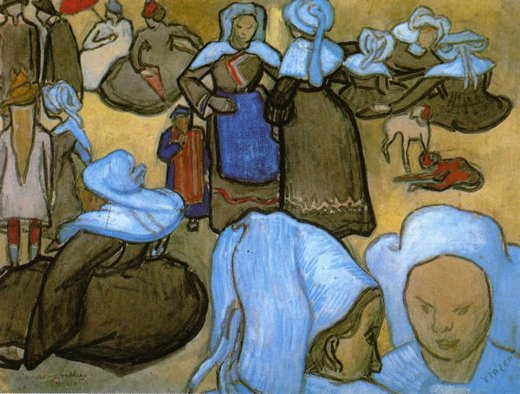 vincent van gogh breton women painting