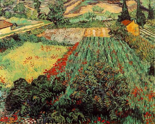 vincent van gogh field with poppies paintings