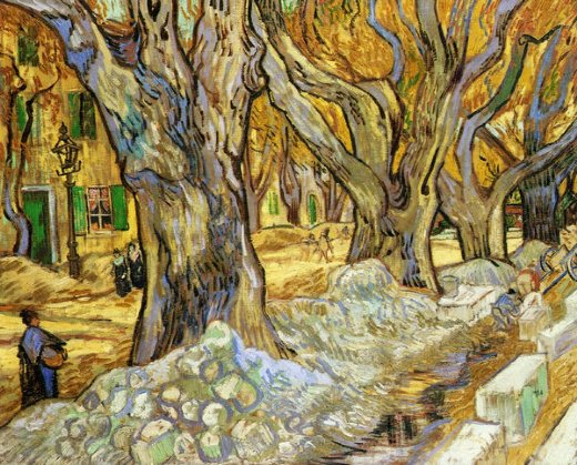 Vincent van gogh large plane trees v painting vincent for Large art for sale