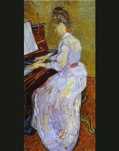 vincent van gogh mademoiselle gachet at piano paintings
