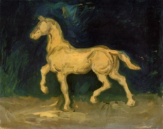 vincent van gogh plaster statuette of a horse painting