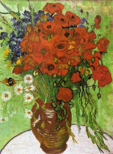 vincent van gogh red poppies and daisies paintings