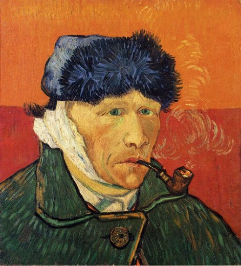 vincent van gogh self portrait with bandaged ear and pipe paintings