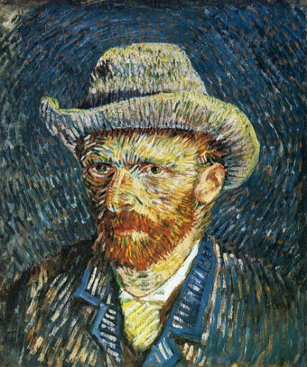 vincent van gogh self portrait with felt hat painting