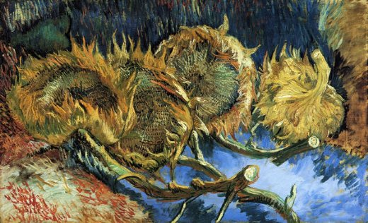 vincent van gogh still life with four sunflowers painting