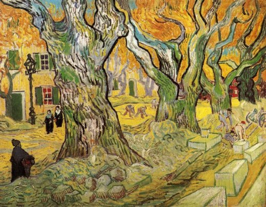 vincent van gogh the road menders paintings