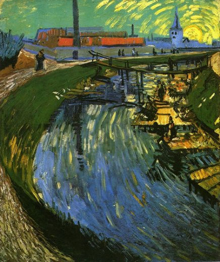 vincent van gogh the roubine du roi canal with washerwomen painting