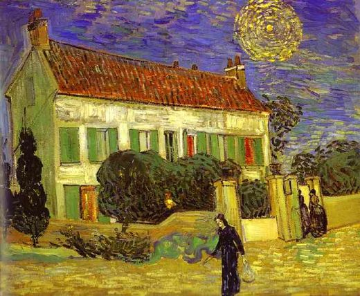 vincent van gogh the white house at night la maison blanche au nuit paintings
