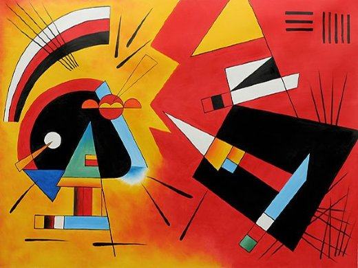 wassily kandinsky black and violet 1923 paintings