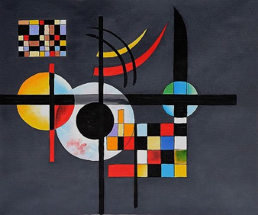 canvas it up canvas wall art prints masterpiece yellow red blue by wassily kandinsky photo print picture room decoration classic pictures photos oil painting reprint.