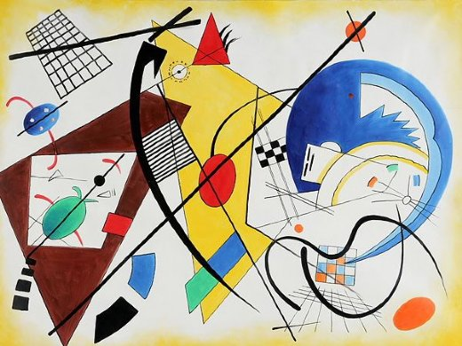 wassily kandinsky throughgoing line ii oil painting