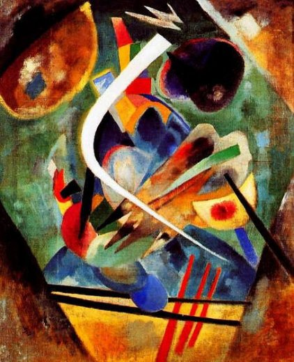wassily kandinsky white line painting