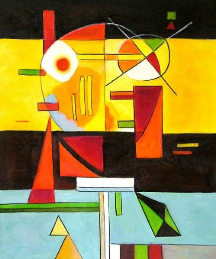wassily kandinsky zersetzte spannung decomposed tension painting