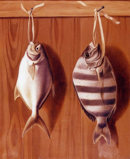 william aiken walker dollar fish and sheephead painting