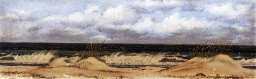 william aiken walker florida beach scene with sand dunes sea oats and surf painting