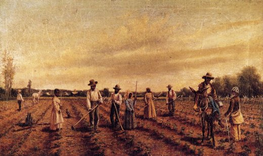 william aiken walker hoeing cotton paintings