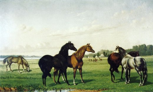 william aiken walker horses in a pasture painting