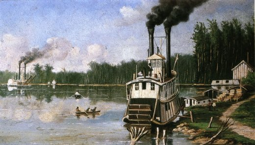 william aiken walker wooding up on the bayou painting