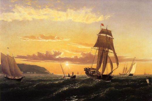 william bradford sunrise on the bay of fundy paintings
