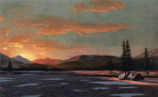 william bradford winter sunset paintings