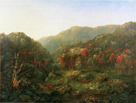 william mason brown landscape with two indians painting