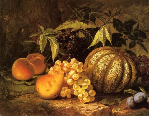 william mason brown still life with cantaloupe painting