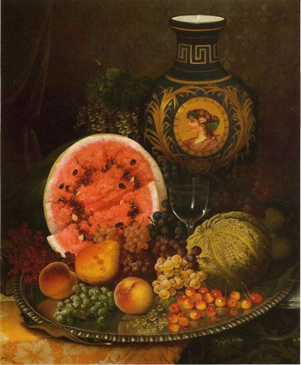 william mason brown still life with fruit and vase painting