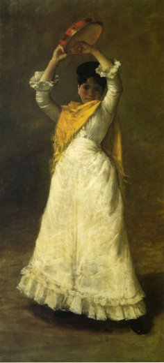william merritt chase a madrid dancing girl painting