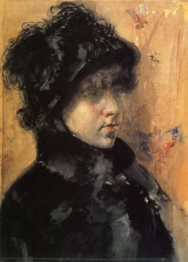 william merritt chase a portrait study paintings
