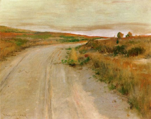 william merritt chase at shinnecock hills painting