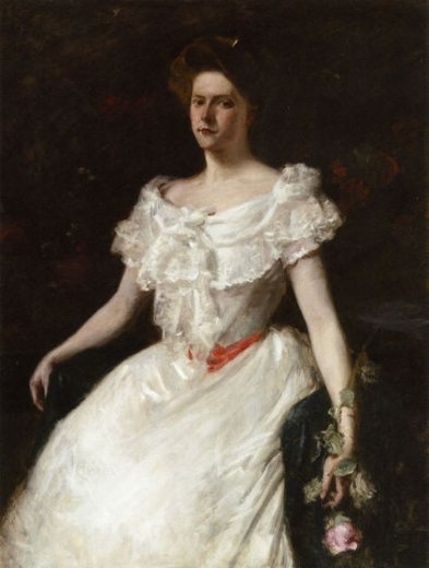 william merritt chase lady with a rose paintings