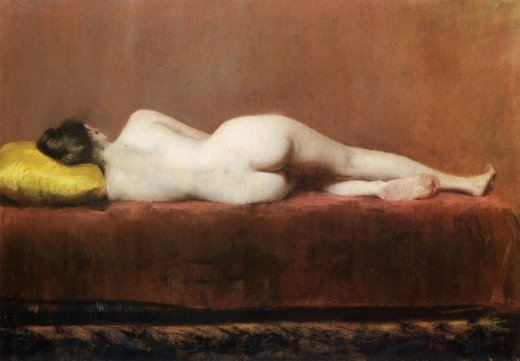 william merritt chase nude recumbent painting