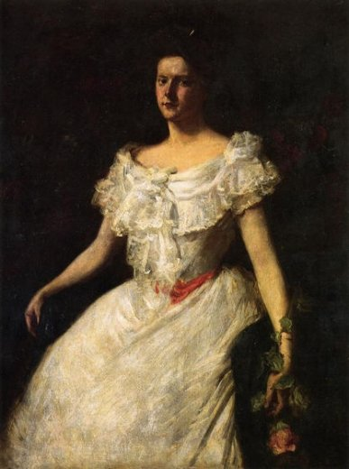 william merritt chase portrait of a lady with a rose paintings