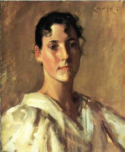 william merritt chase portrait of a woman ii painting