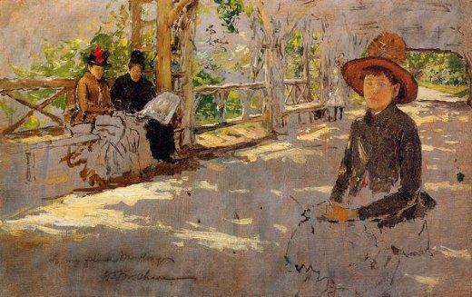 Shopping William Merritt Chase Women Under Trellis